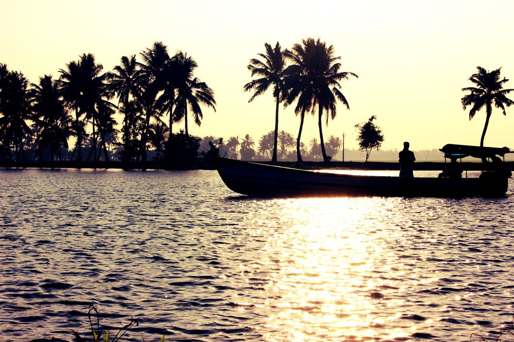 canoe in Backwaters of Kerala